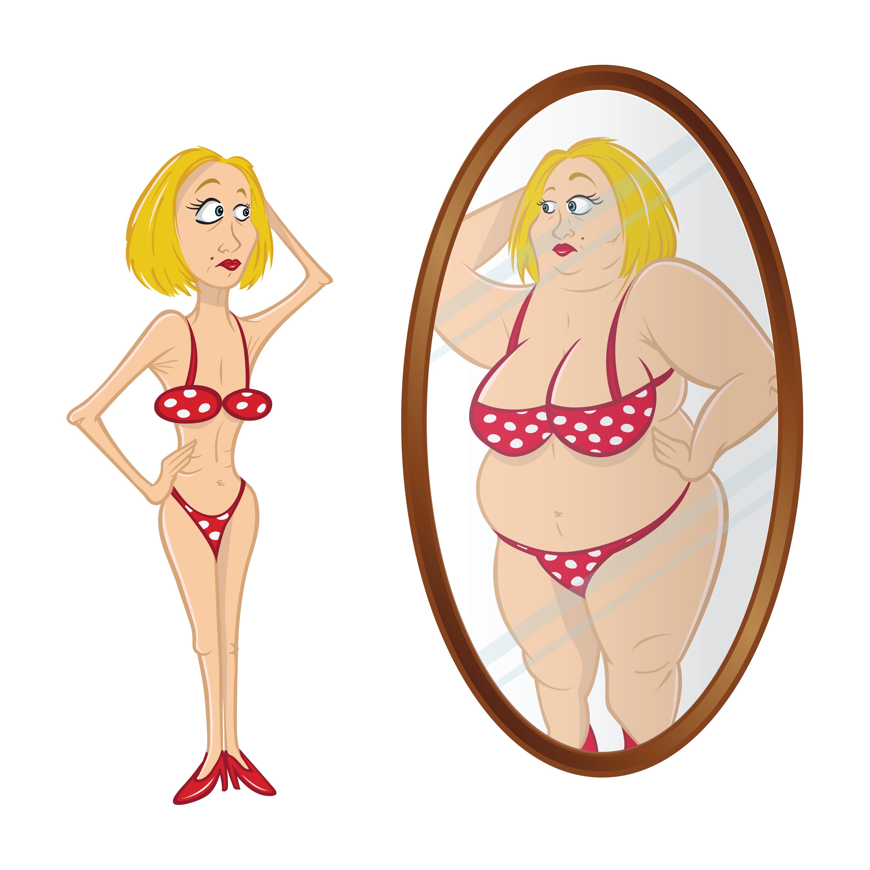 Nesprávné vnímání svého těla ze Shutterstock.com
