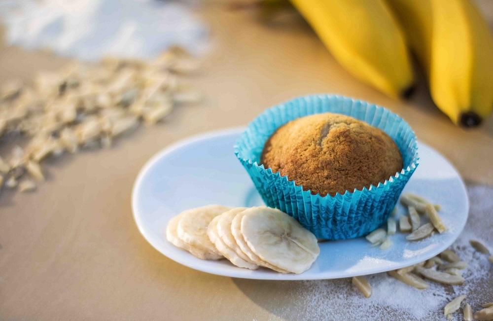 Banánové muffiny s mandlemi