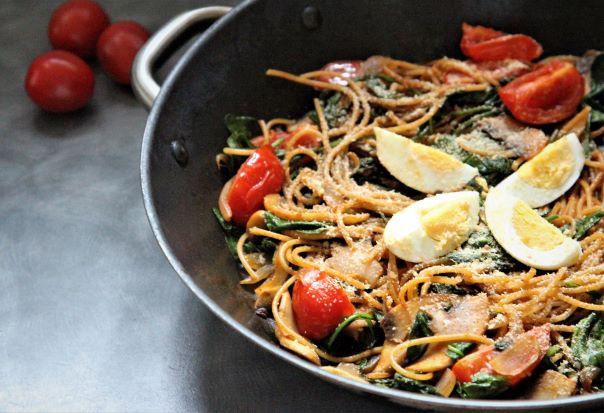 Zeleninové špagety s droždím