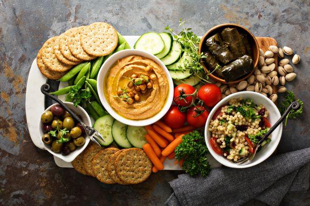 Vegetariánský talíř