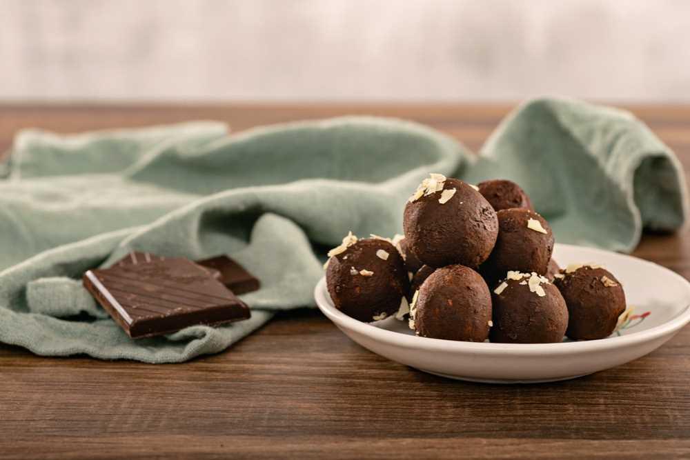 Čokoládové kuličky ze skyru a vloček