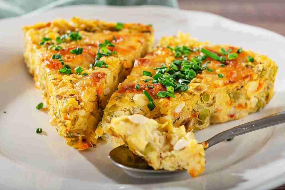 Bezlepkový koláč z polenty se zeleninou