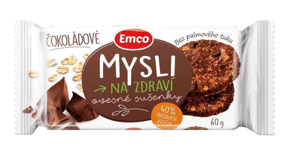 Ovesné sušenky Emco čokoládové