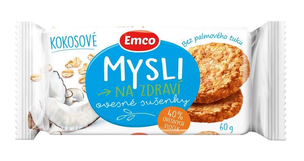 Ovesné sušenky Emco kokosové
