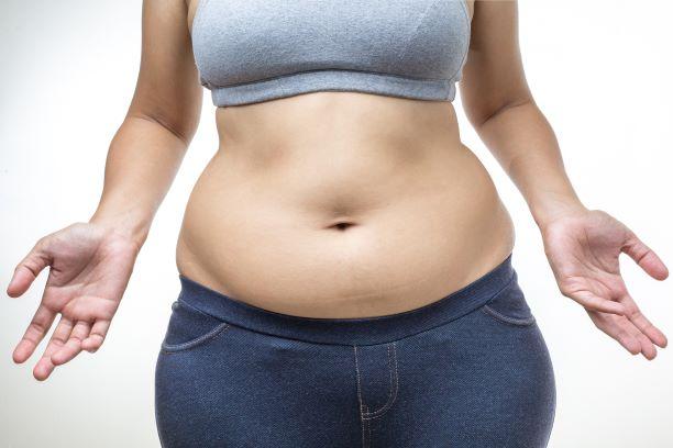 tuk v oblasti břicha