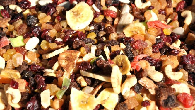 sušené ovoce s musli