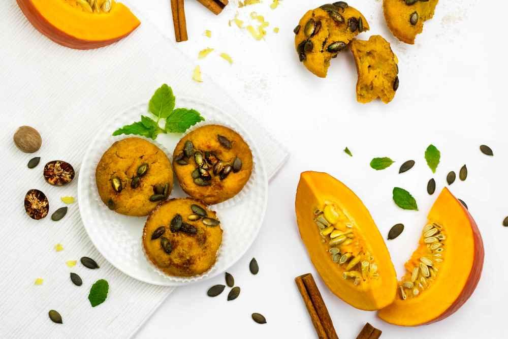 Dýňové muffiny se semínky a skořicí