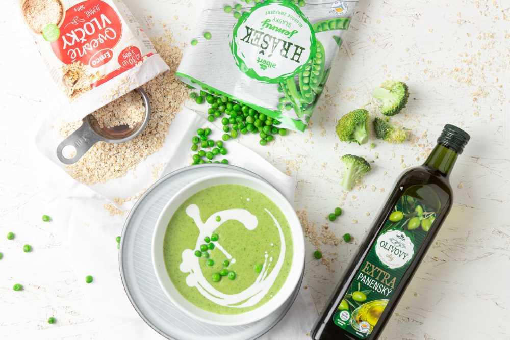 Brokolicovo-hrášková polévka