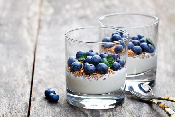 lněné semínko s jogurtem