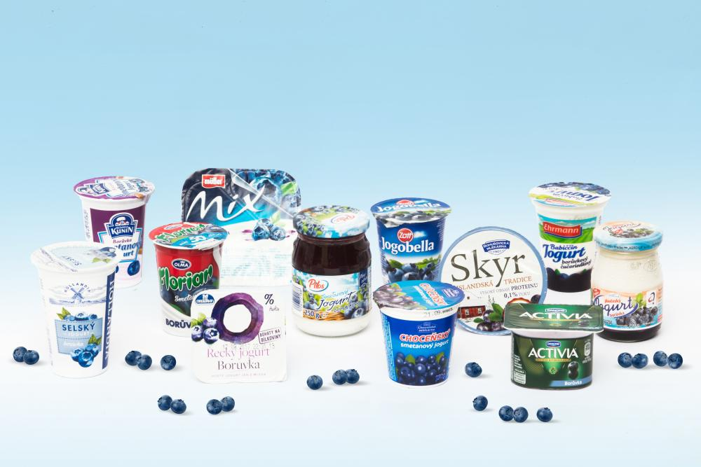 Velký test borůvkových jogurtů. Hodně cukru, málo borůvek
