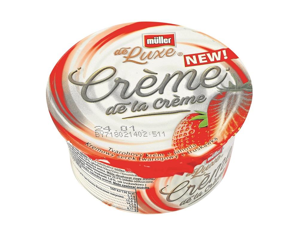 Müller Crème de la crème Tvarohový krém + jahoda