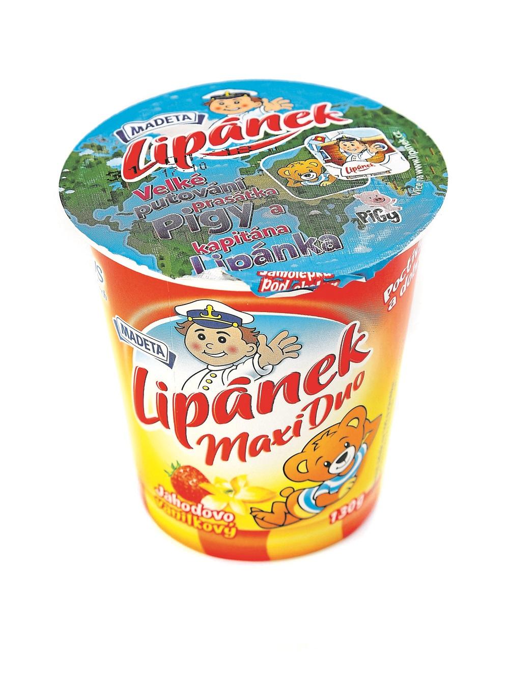 Madeta Lipánek Maxi Duo Jahodovo vanilkový