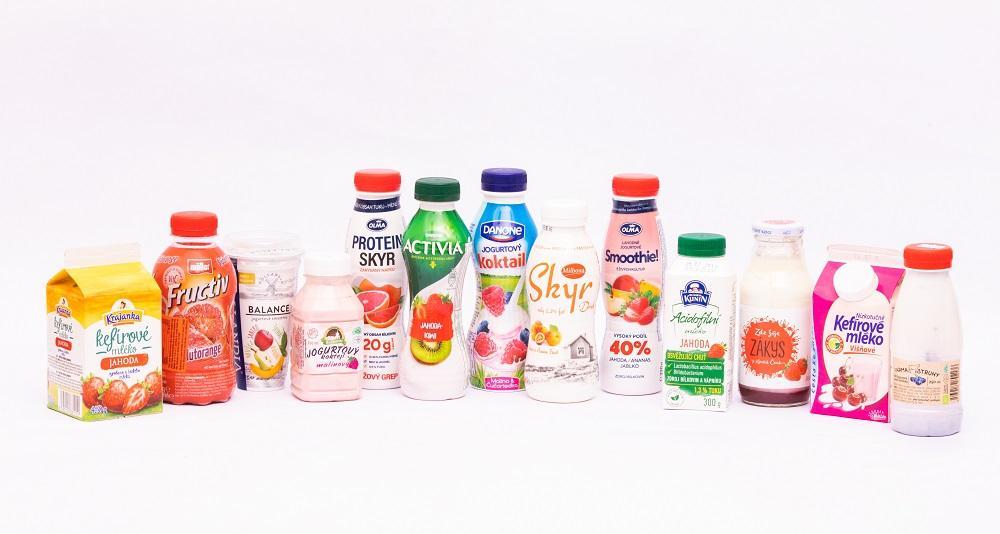 Test ochucených mléčných nápojů. Hodně cukru