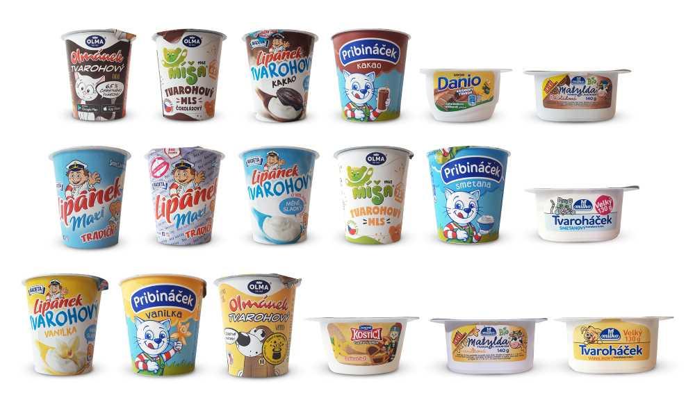 Srovnávací analýza - chlazené tvarohové dezerty pro děti