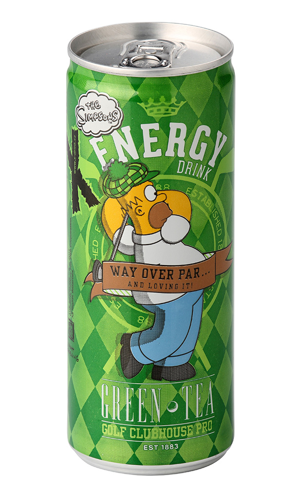 The Simpsons Green Tea Energy Drink