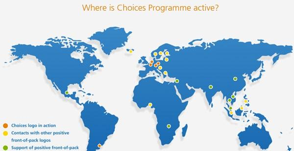 Záběr aktivit The Choices International Foundation ve světě