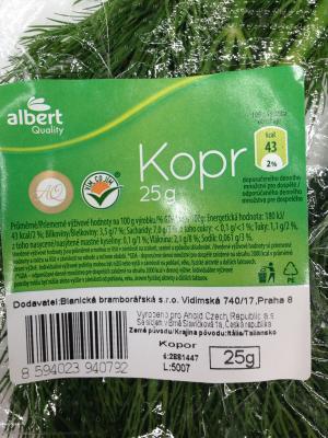 Albert Quality kopr