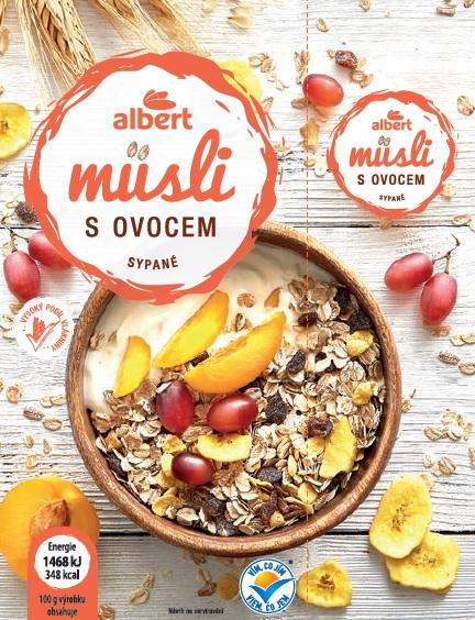 Albert Müsli sypané s ovocem 1 kg
