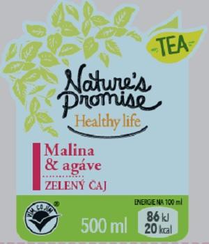 Zelený čaj Malina & Agáve (Nature´s Promise) 500 ml