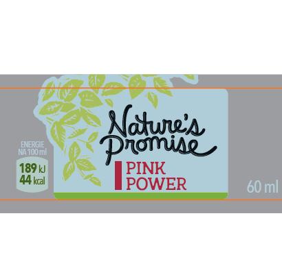 Pink power Nature´s Promise (Ovocná šťáva z jablek, jahod a citronu, se zázvorem Nature´s Promise) 60 ml