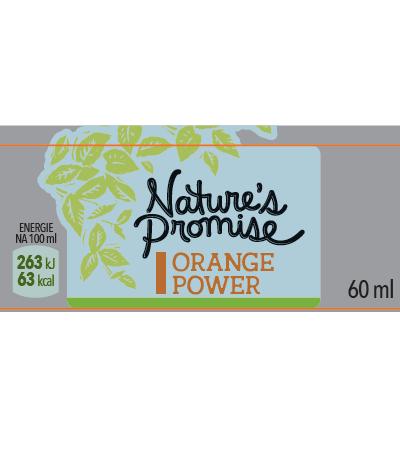 Orange power Nature´s Promise (Ovocná šťáva z pomeranče a citronu, se zázvorem, kurkumou a chilli) 60 ml