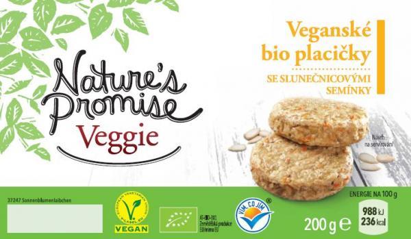 Veganské bio placičky se slunečnicovými semínky 200 g