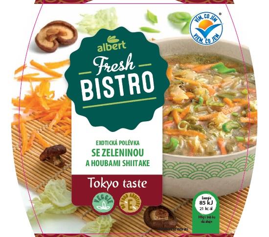 Exotická polévka se zeleninou a houbami Shiitake, Tokyo Taste, Albert Fresh Bistro 350 G
