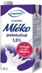 Trvanlivé mléko polotučné 1,5% s nízkým obsahem laktózy