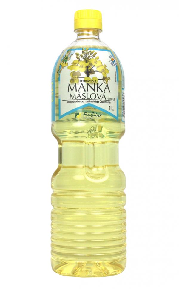 Máslová Manka - řepkový olej 1l