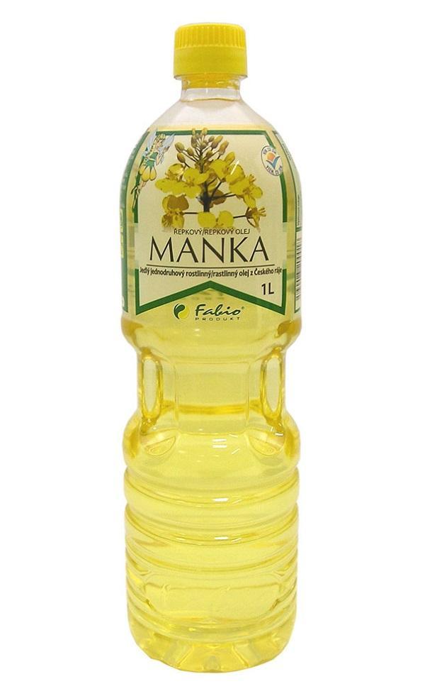 Manka - řepkový olej 1l