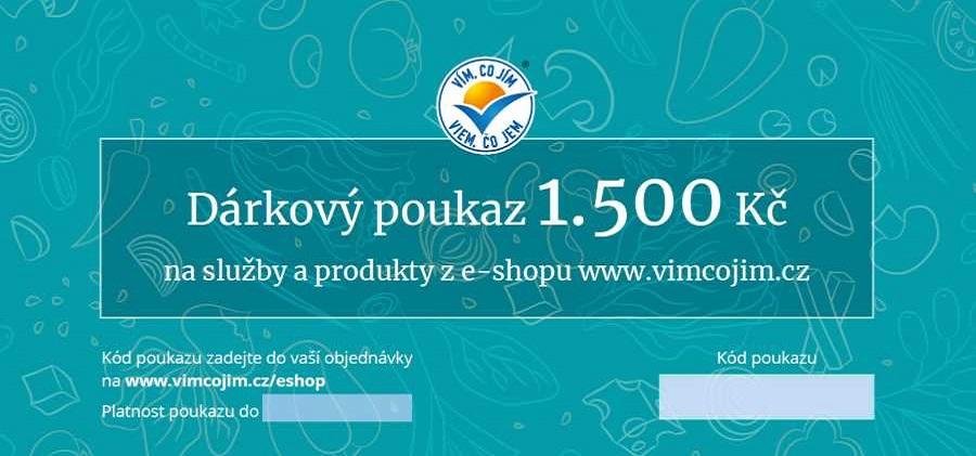 Poukaz na produkty a služby 1 500,-