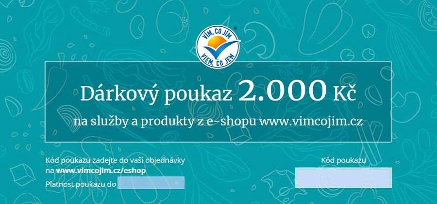 Poukaz na produkty a služby 2 000,-