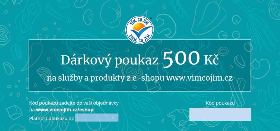 Poukaz na produkty a služby 500,-