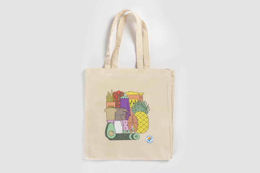 Látková nákupní taška extra pevná