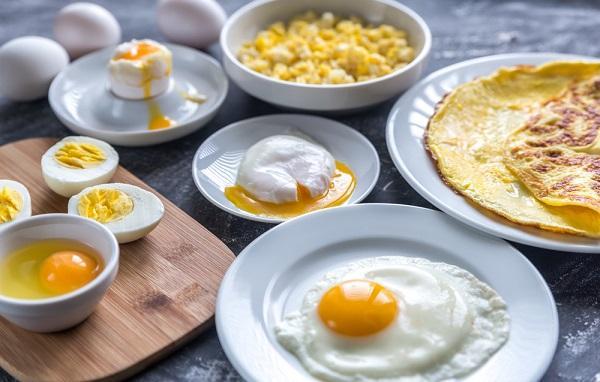 Různé druhy úpravy vajíčka