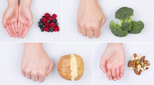 Velikost porce je velikost dlaně