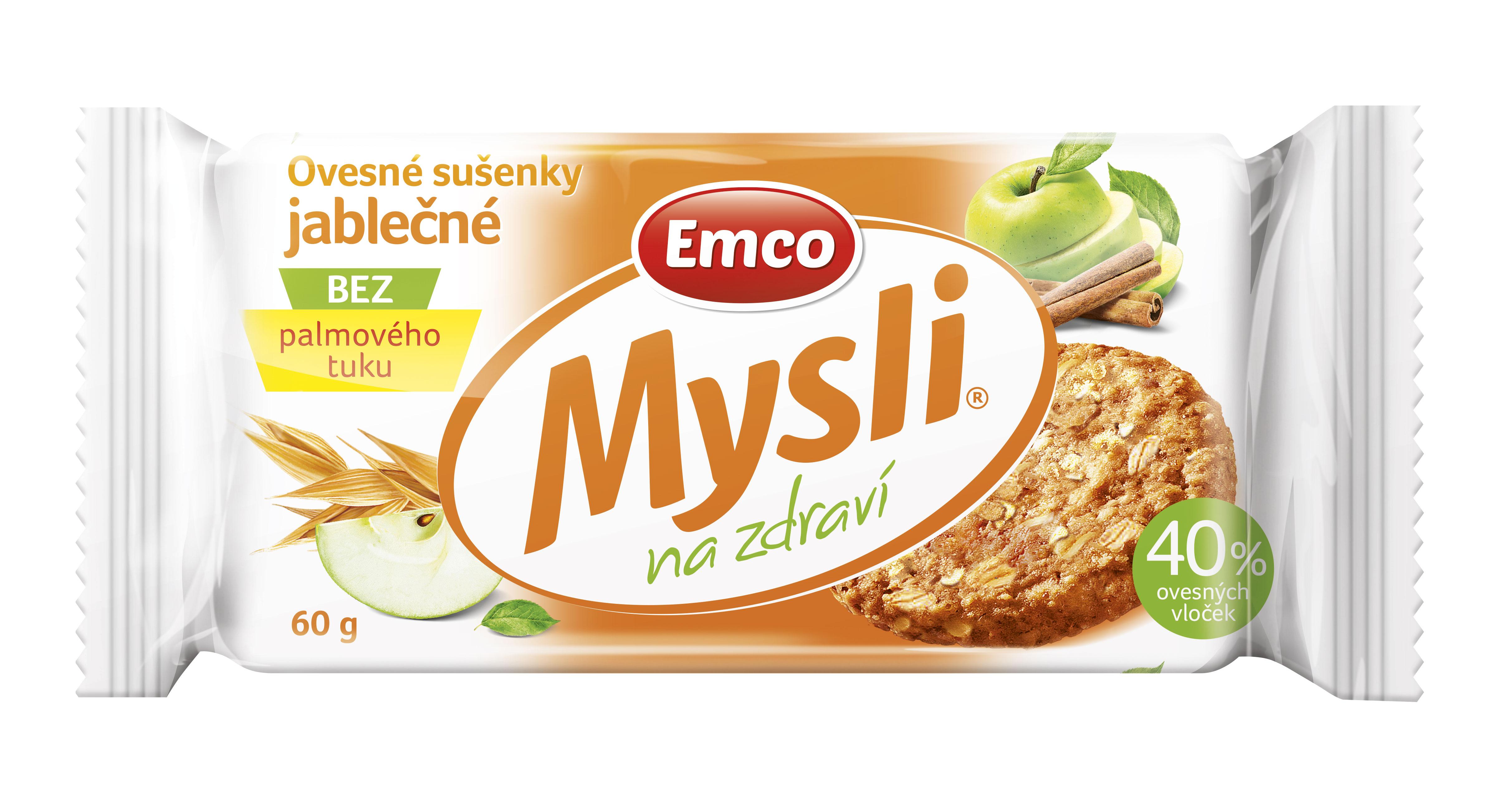 Ovesné sušenky Emco jablečné