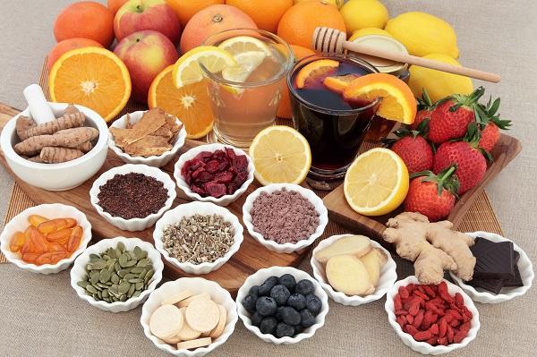 potraviny plné vitámínů a minerálů