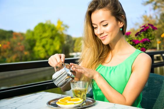 Posilte cévy a tělo zeleným čajem